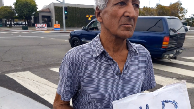 Old Latino Homeless who cannot speak English